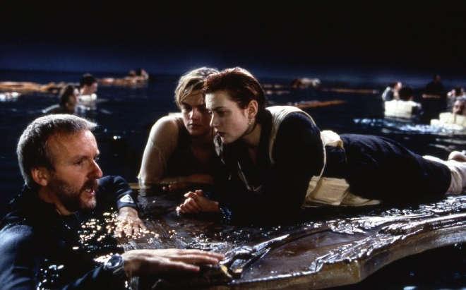 Kate Winslet Leonardo Di Caprio James Cameron