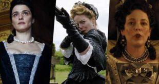 Rachel Weisz, Emma Stone e Olivia Colman in The Favourite