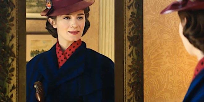 Emily Blunt in Il ritorno di Mary Poppins