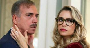 Massimo Ghini e Martina Stella in una scena di natale a 5 stelle