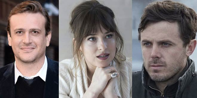 Jason Segel, Dakota Johnson e Oscar Casey Affleck nel cast di The Friend