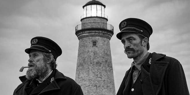Robert Pattinson e Willem Dafoe in The Lighthouse