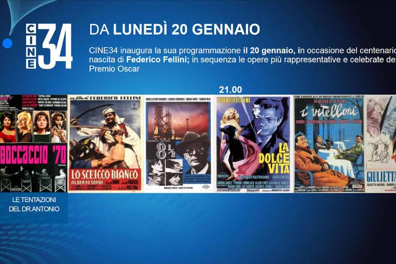 Cine 34: tutto quello che c'è da sapere sul nuovo canale di cinema italiano