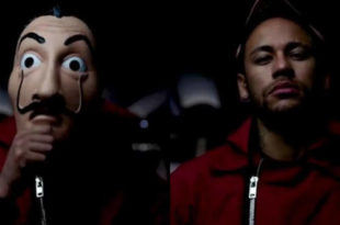 Neymar in La casa di carta
