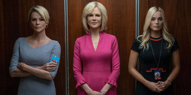 Il cast di Bombshell con Margot Robbie, Charlize Theron e Nicole Kidman